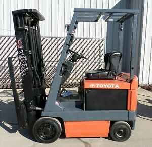 Toyota 5fbcu15 2001 3000 Lbs Capacity Great 4 Wheel Electric Forklift