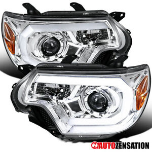 For 2012 2015 Toyota Tacoma Clear Projector Headlights Lamps Led Bar Left Right