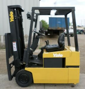 Yale Erp030tg 2002 3000 Lbs Capacity Great 3 Wheel Electric Forklift