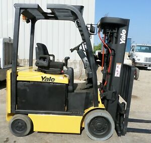 Yale Model Erc060vg 2016 6000 Lbs Capacity Great 4 Wheel Electric Forklift