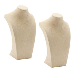 2pcs Necklace Pendant Jewelry Display Bust Mannequin Jewelry Stand Holder