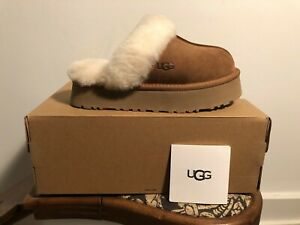 UGG Disquette Chestnut Suede Clog Style 1122550 Women#x27;s US Sizes 5 11 NEW $89.95