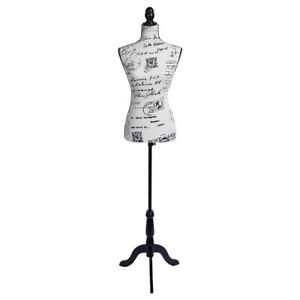 Half length Letter Pattern Lady Model Foam Brushed Fabric Clothing Display Stand