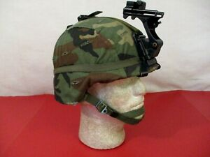 US Army PASGT Ground Troop Helmet made w Kevlar amp; Cover w NVG Bracket X Small #1 $169.99