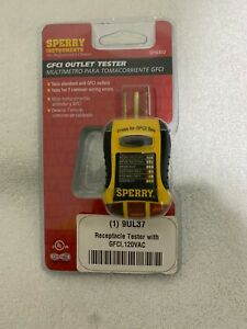 Sperry Receptacle Tester With Gfci 120vac New