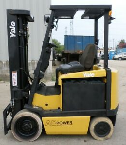 Yale Model Erc050gh 2008 5000 Lbs Capacity Great 4 Wheel Electric Forklift