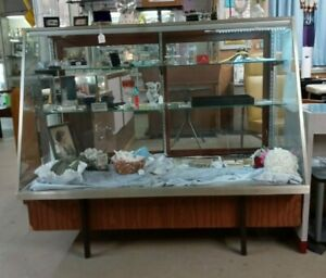 Slant Front Glass Store Display Showcase 50in Tall X59 In Wide