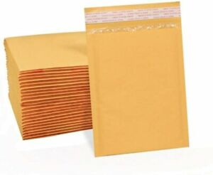 0 6 X 10 6x9 Kraft Bubble Padded Envelopes Mailers Shipping Bag 25 Pieces