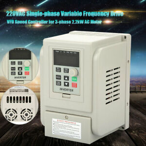220v 2 2kw Variable Frequency Drive Converter For 3 phase Motor Speed Control Us