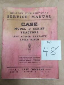 Case Supplement Service Manual For D Series Tractors Live Pto Eagle Hitch