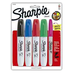 Sharpie Permanent Markers Chisel Tip Classic Colors 4 Count 1 Assorted
