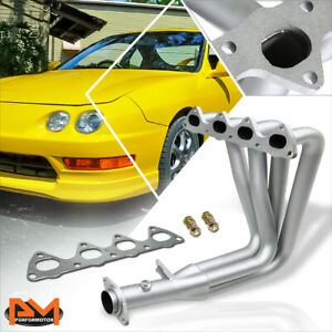 For 94 01 Acura Integra Gsr Type R B Series Performance Exhaust Header Silver