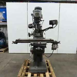 Bridgeport 2hp Vertical Turret Milling Machine W power Feed Readout 208v 3ph