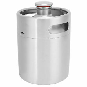 2l Beer Keg Small Stainless Steel Beer Barrel With Spiral Lid For Home brewing