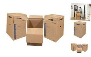 Smoothmove Wardrobe Moving Tall 24 X 24 X 40 Inches 3 Pack 7711001 Boxes
