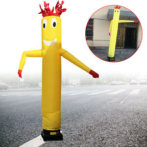 10 Feet Inflatable Sky Air Puppet Wavy Wind Tube Man Dancing Doll 3 Meter Yellow