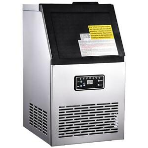Commercial Ice Maker Stainless Steel Bar Restaurant Ice Cube Machine Built in Us