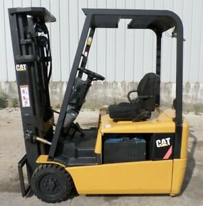 Caterpillar Ep16kt 2004 3000 Lbs Capacity Great 3 Wheel Electric Forklift