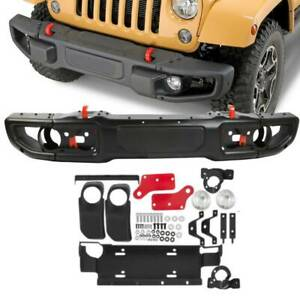 10th Anniversary Style Metal Front Bumper Fits 07 18 Jeep Jk Wrangler Rubicon Us