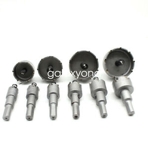 10pcs Carbide Drill Bit Tip Tct Hole Saw Cutter For Steel Metal Alloy 16 53mm Us