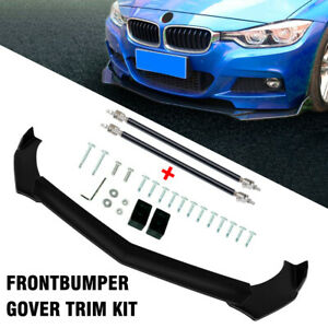 Front Bumper Lip Splitter Spoiler With Strut Rods For Ford Mustang Gt Focus Mondeo Fits 2006 Mustang