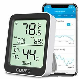Govee Bluetooth Digital Hygrometer Indoor Thermometer Room Humidity And Tempe
