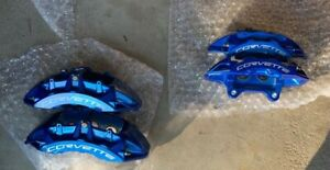 Corvette C6 Zr1 Brembo Calipers Blue New Front And Rear