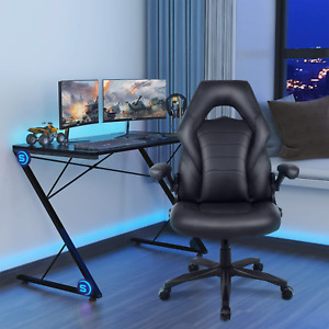 Leather Gaming Racing Chair Ergonomic Recliner Executive Office Computer Chair