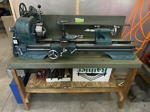 Vintage Atlas H48 10 Inch Lathe With Extra Accessories