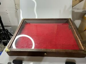 24 Inch Portable Wood Countertop Display Case 24 w X 24 l X 3 d