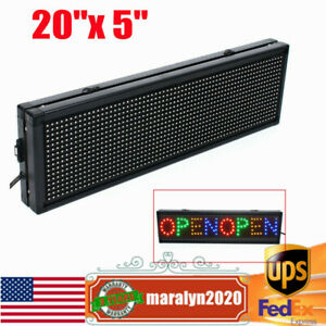 20 x 5 Led Sign Full Color Programmable Scrolling Message Board Display Outdoor