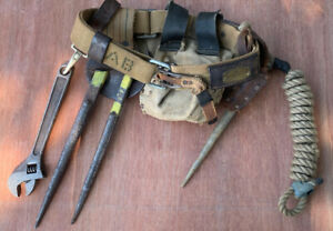 1961 American Bridge Ironworkers Quick Release Tool Belt With Tools Spud Wrench