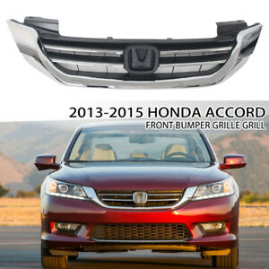 Fit For Honda Accord Sedan 2013 2014 2015 Front Upper Grille Grill Chrome