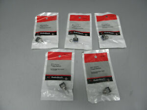 Five Radioshack 275 0631 Spdt Submini Toggle Switch 3a 125vac 1a 250vac