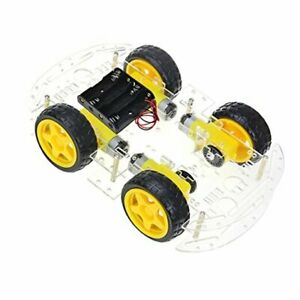 Diy Robot Smart Car Chassis Kit With Speed Encoder 4 Wheels And Battery Box
