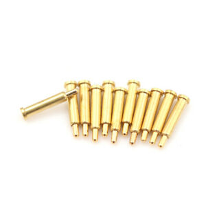 10pcs Gold plated Spherical Tipped Spring Loaded Probes Testing Pin Oh