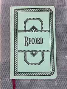 Vintage Record Book By Boorum And Pease Record Book Unused Green 12 1 8 X 7 5 8