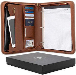 Forevermore Portfolio Padfolio With Zippered Closure Removable 3 Ring Binder L