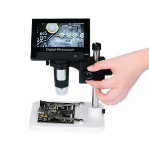 1000x Digital Microscope Camera Video 720p With 4 3 Lcd Screen Holder 8 Led