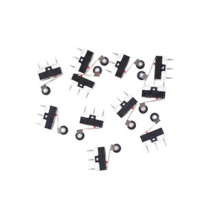 10pcs 1a 125v Micro Switch Roller Lever Actuator Spdt Sub Miniature Asj Oh
