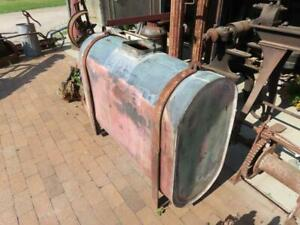 Large Antique Copper Steam Traction Engine Riveted Water Tank 47 X 36 X 18
