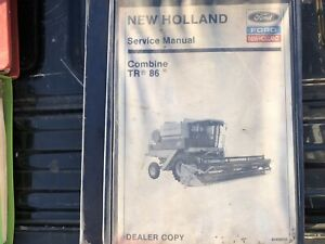New Holland Tr86 Combine Factory Service Manual Oem