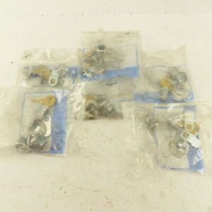 Compx Mfw23058 kd Cam Lock Disc Tumbler Cabinet Lock Keyed Different Lot Of 6