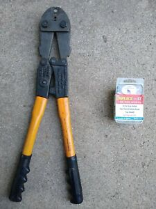 Nicopress Wire Splicing Tool Splices Hand Swage Swaging Crimping Fence Repair