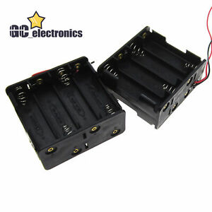 2pcs 8x Aa Size Cell Battery Clip Holder storage Container 12v Case Us A3gs