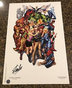 Avengers #1 SDCC Heroes Campbell Color Litho Signed by Stan Lee with COA $289.95