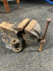 Woden Bench Vise 186 B 4 Made In England 4 5 Jaws 56 Lb Swivel
