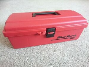 Blue Point By Snap on Plastic Tool Box Carry Case Red Ya481 Small Med Unused