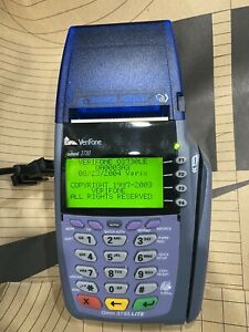 Verifone Vx510 Omni 3730 Le Credit Card Terminal With Power Adapter