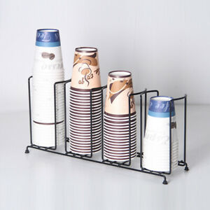 Heavy duty Disposable Paper Water Coffee Cup Lid Holder Dispenser Rack